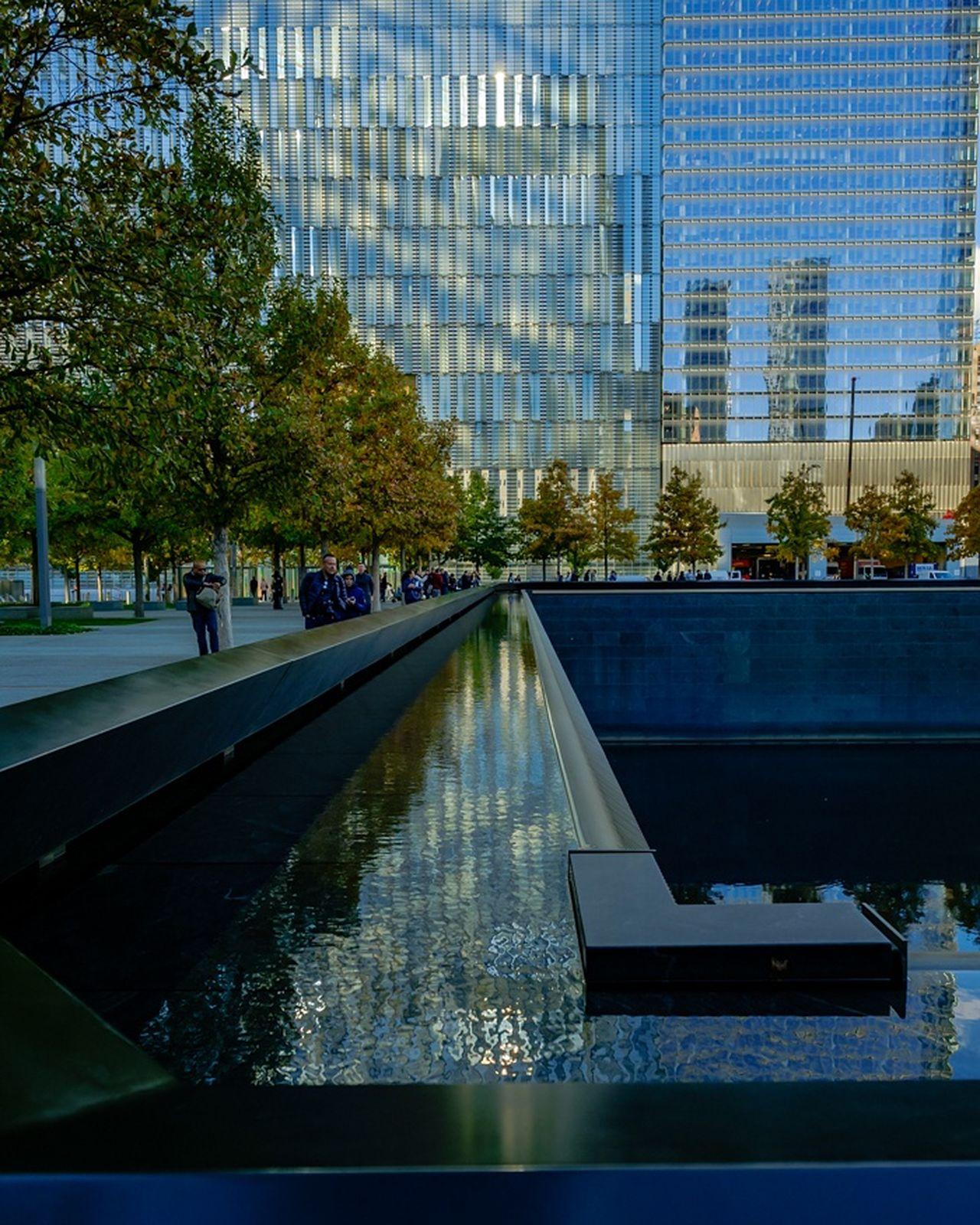 Silent reflections. Northpool Reflection Architecture City Water Skyscraper Modern Travel Myfujifilm Fujilove Newyork Streetphotography Memorial