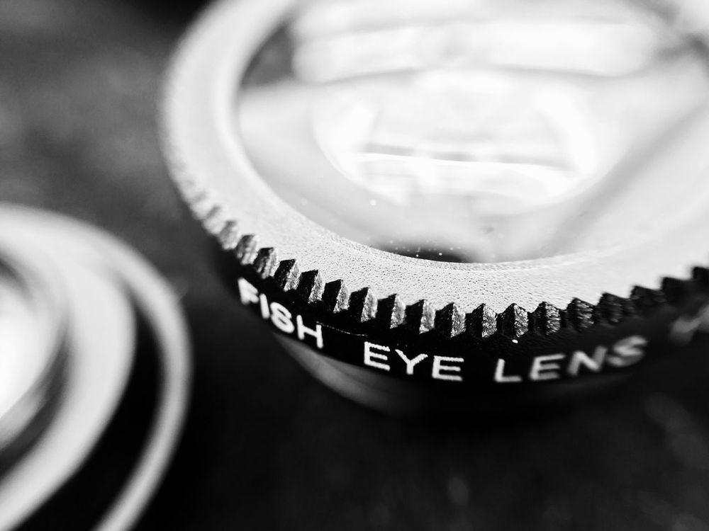 Close-up No People Indoors  Technology Day Fisheye Fisheye Lens EyeEm Best Shots Photography Equipment Photo Equipment Metal Black Blackandwhite Black And White Black & White Blackandwhite Photography EyeEmNewHere