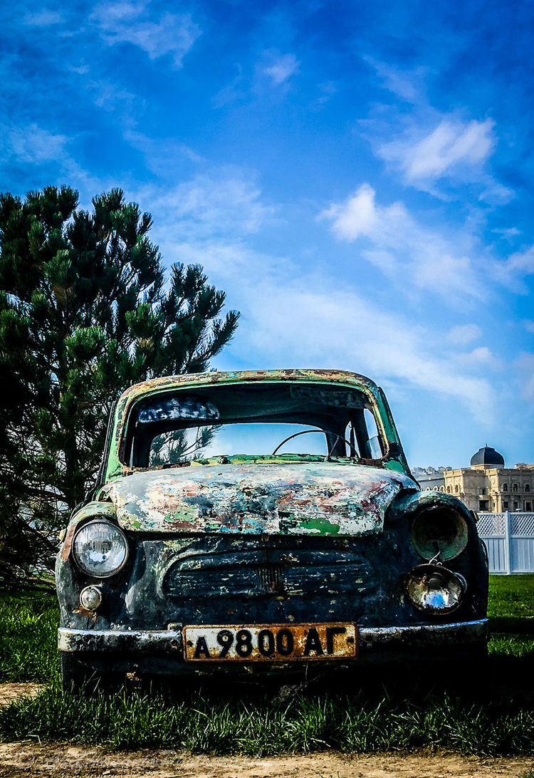 Car Day No People Old Vehicle Rusty Car Secod Life Sky Zaporozhets The Portraitist - 2017 EyeEm Awards
