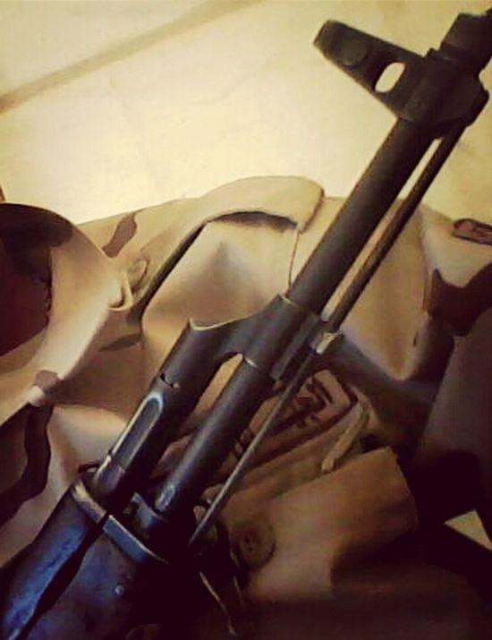Holding my gun