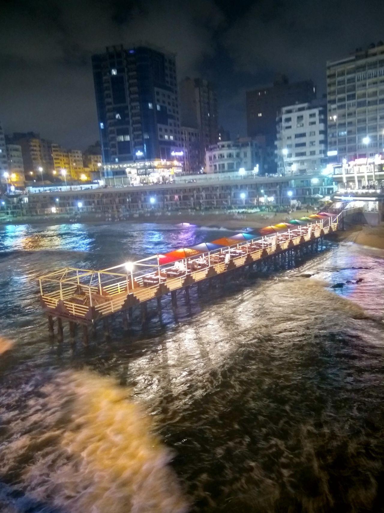Night City No People Water Alexandria Egypt Stanly Bridge BeautyofEgypt First Eyeem Photo