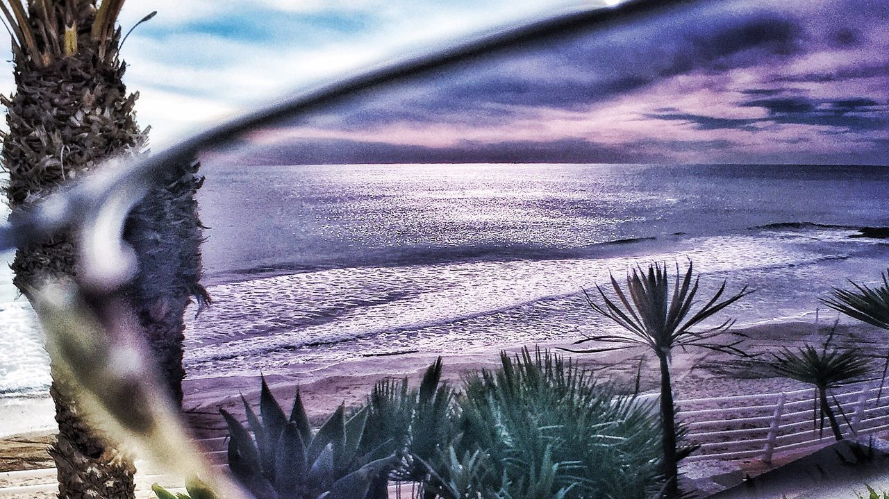 Arty Snap of the Sunlight ☀ Reflections In The Water Sun On The Sea Mediterranean Sea through the Lens of my Transition RayBans® in the garden of the Beach House in Orihuela  Southern SPAIN