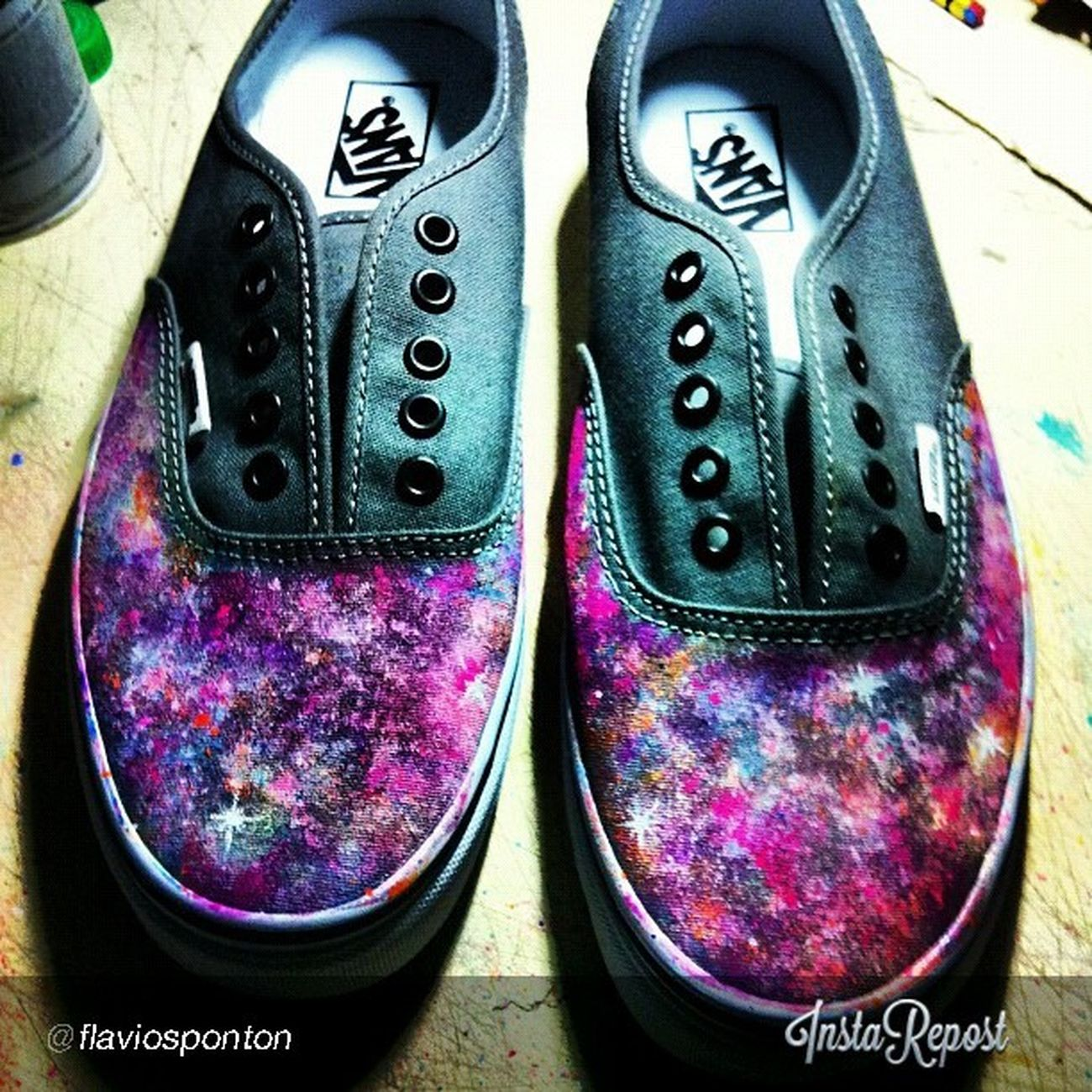 Tingining! Customvans Vansbrasil Galaxy Leather cool offthewall vansPH