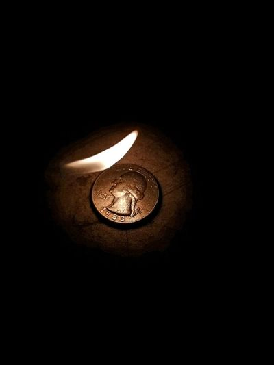 Live For The Story Coin Black Background Currency No People Burn Money Spend Money Fire Flame In God We Trust ! Studio Shot Finance Close-up Indoors  Illuminated