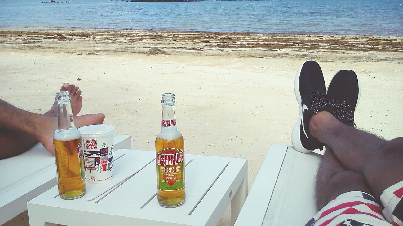 Chilling by the beach Relaxing Beach Beer Desperados Nike Roshe Mauritius Beautiful Life Blessed  Igersmauritius Quality Time