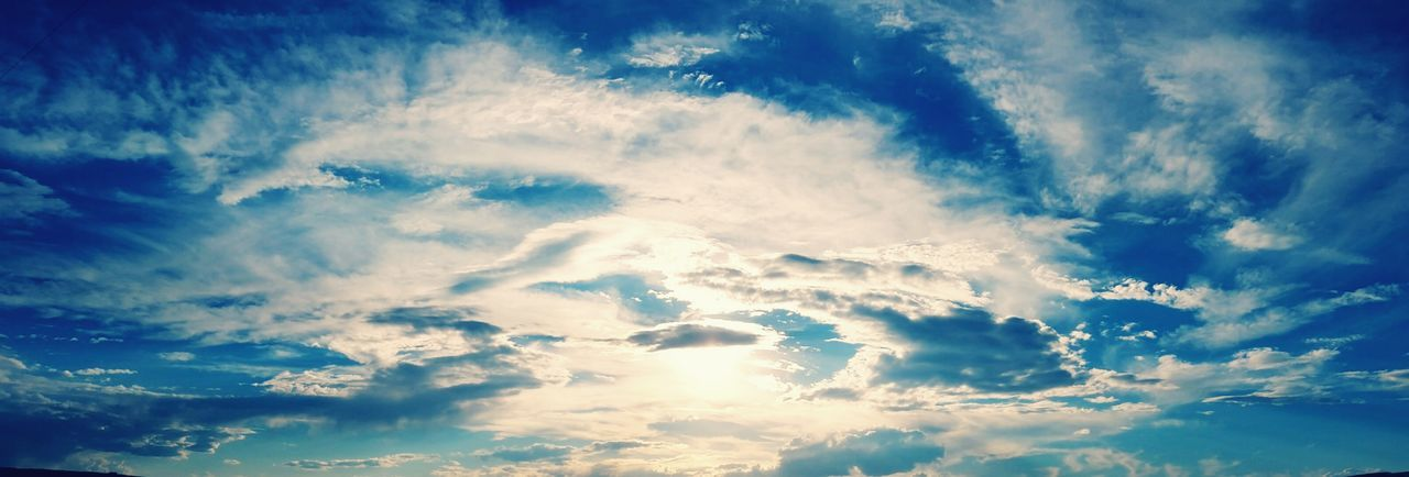 Endless in the Blue Cloudscape Low Angle View Tranquility Majestic Panaroma