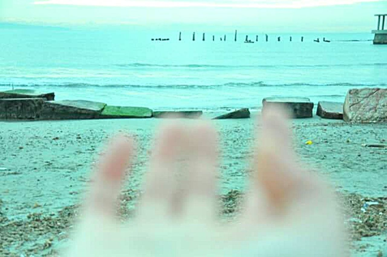 Albania Durres Seaside Sea Hand Fingers Beauty Nature Moment Of Silence Artistic