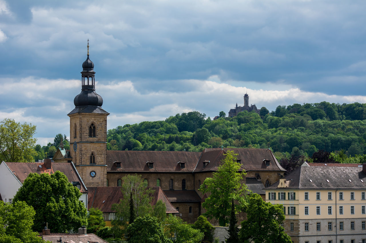 Stormy clouds at Michaelsberg in Bamberg Altenburg Architecture Architecture Bamberg  Bavaria Bayern Building Exterior Built Structure City Cloud Cloud - Sky Cloudy Deutschland Europe Franken Germany Michaelsberg Abbey Michaelsberg Abtei Oberfranken Sky Spring Travel Travel Destinations Tree Unesco