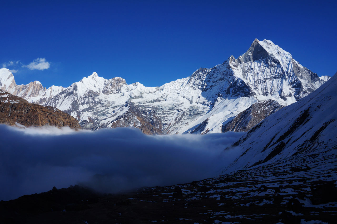 Beautiful stock photos of annapurna,  Beauty In Nature,  Blue,  Cloud - Sky,  Cold Temperature