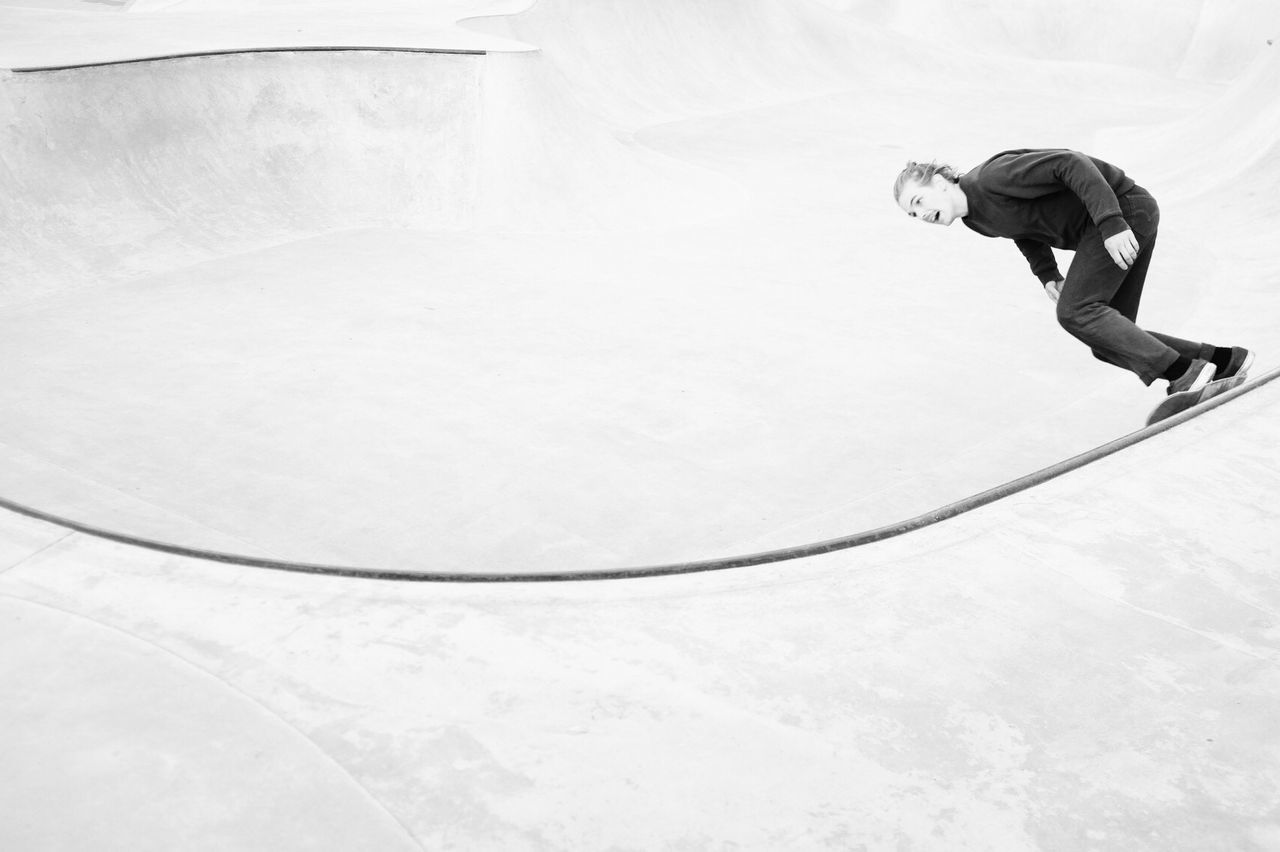 Skateboard Park Leisure Activity Activity Lifestyles Extreme Sports Motion Monochrome Black And White