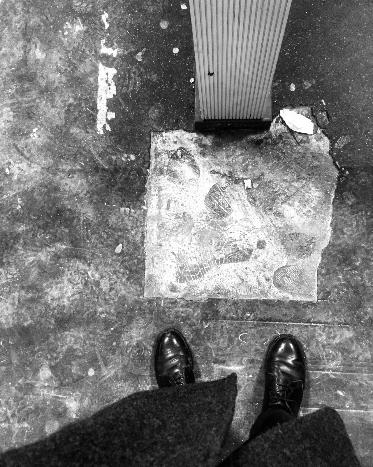 Shoe No People Outdoors Monochrome Floor Lookdown Ground Travel Mess