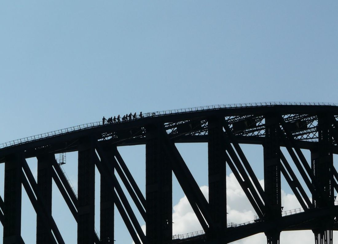 Around Sydney Aussie Icon Australia Brave Bridge Walks Built Structure City Life Cityscapes Day Dizzy Fear Of Heights Harbour Bridge On Top Of The World Outdoors Sky Sydney Harbour  Sydney Harbour Bridge Sydney, Australia The Coat Hanger