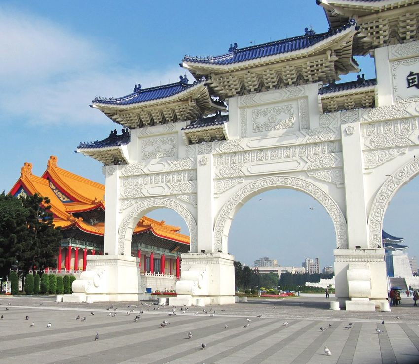Ancient Arch Arches Architecture Building Exterior Built Structure Chinese Design Famous Place Historical Building History International Landmark Memorial Taipei Taiwan Temple Ornate Ornamental Colorful Structure Chinese Culture Detailed EyeEm Taiwan Tourist Attraction  Chinese Architecture