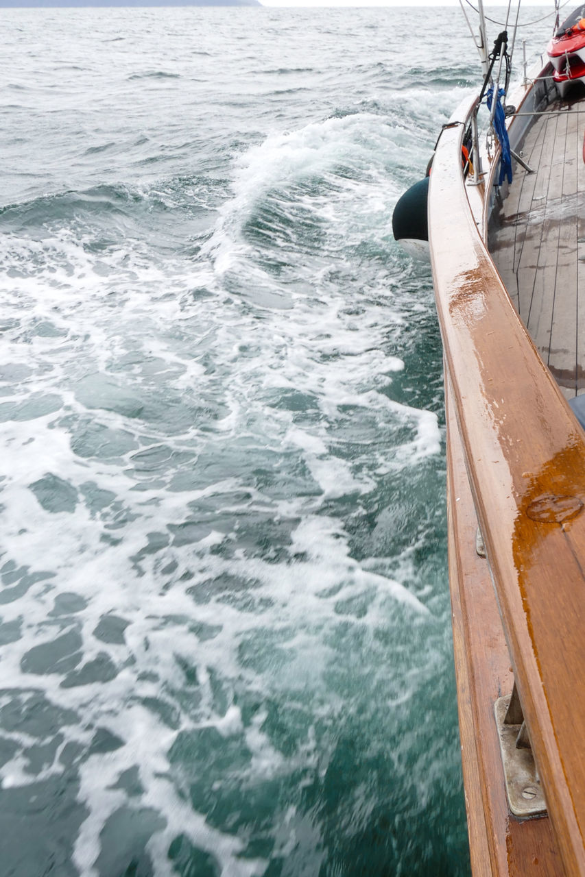 sea, water, nautical vessel, transportation, no people, day, outdoors, nature, sky, close-up