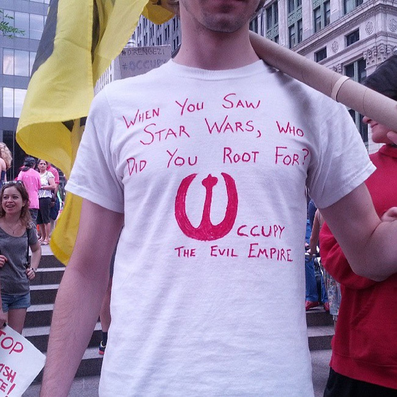 When you saw Starwars who did you root for? Occupy the Evilempire --OWS libertysquare OccupyGezi OccupyGezinyc