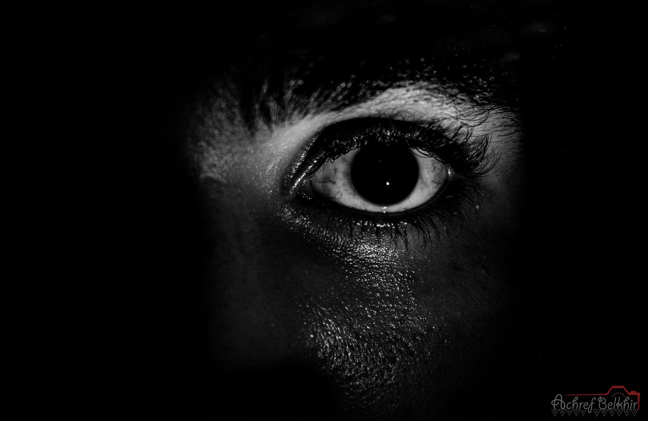 Eyelash Mine Black And White 2015