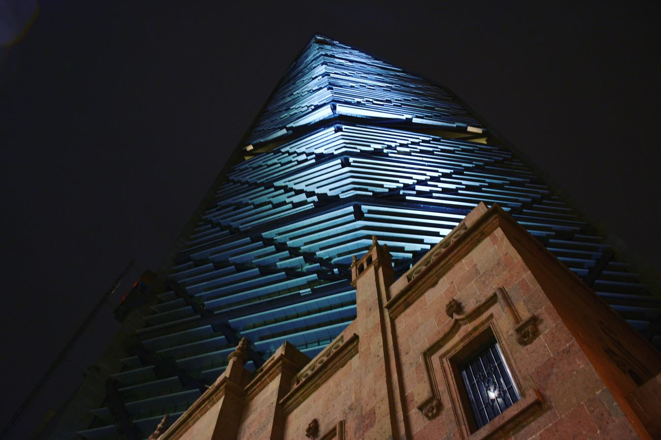 Nightphotography Night Buildings Architecture Building Exterior Sky Modern No People Mexicocity  City Cdmx Tall - High