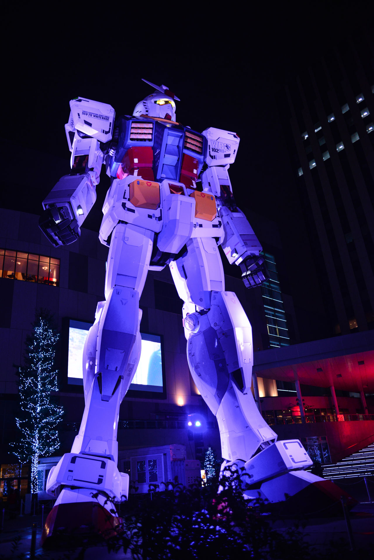 Art And Craft Building Exterior Built Structure Gundam Human Representation Illuminated Low Angle View Night Odiba Sculpture Ultimate Japan