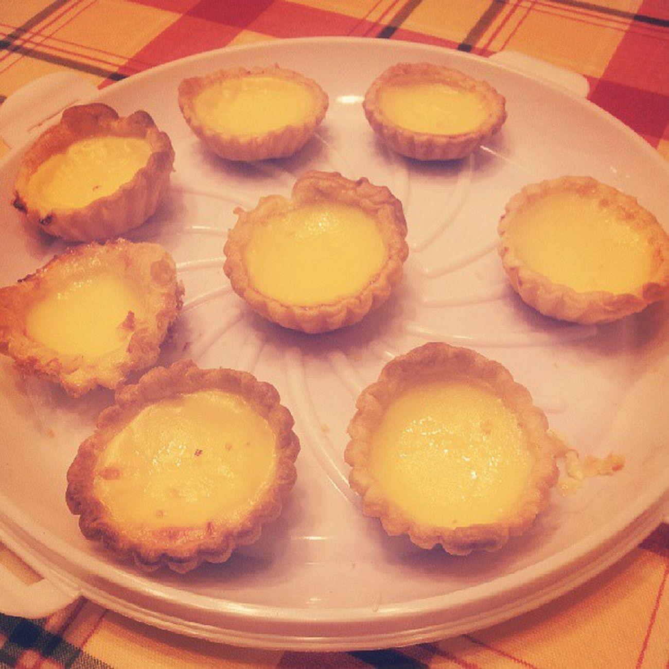 Egg tarts, finished! A few went missing...hehe Domesticgoddess Nomnomnom Whatcalories