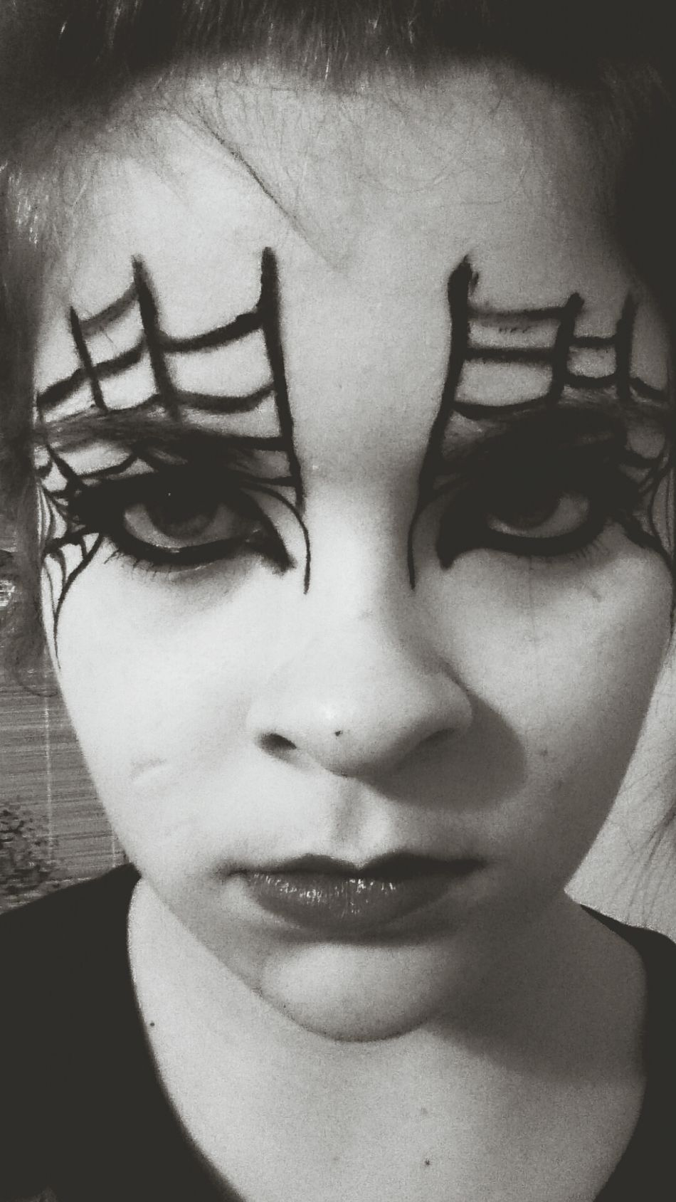 So this is how I'm gonna do my halloween makeup~ On a different note, I realized I bought waterproof eyeliner, so basically I'm screwed... Makeup Help Me Please Does Anyone Have Any Tips? Im Screwed.