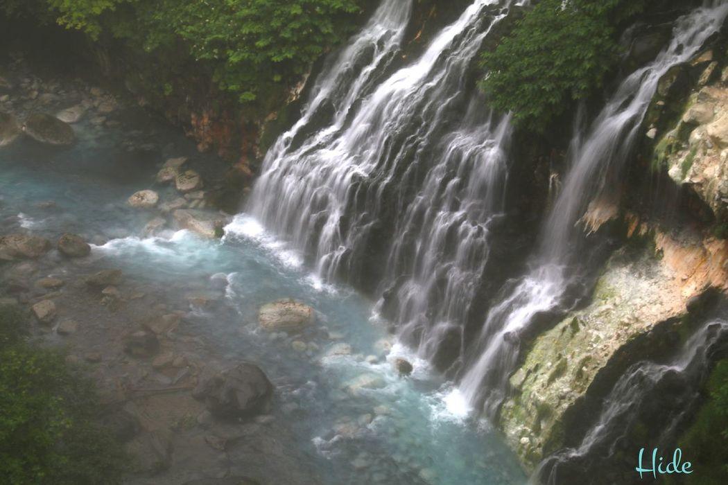 Waterfall 滝 美瑛町 白金温泉 しらひげの滝 青い川 Drizzle