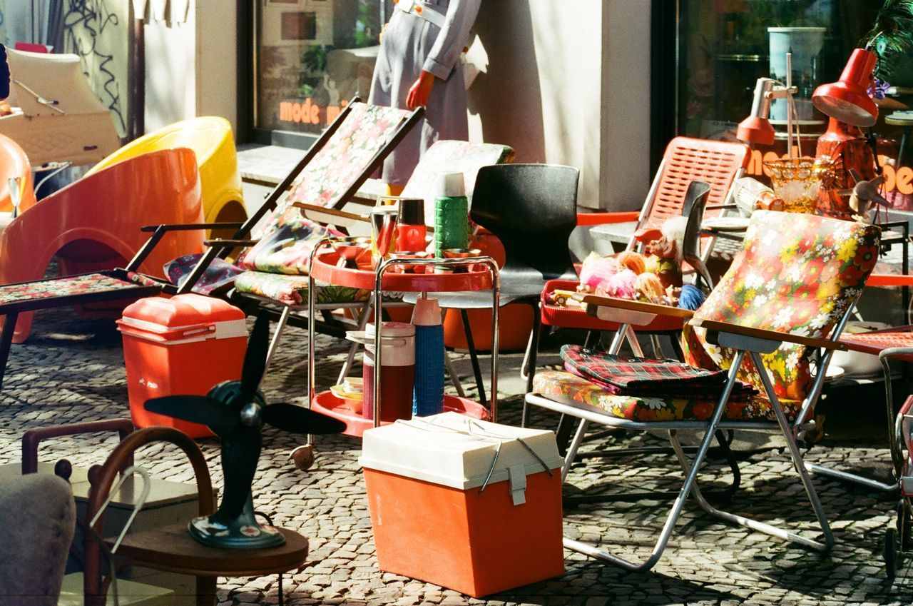 Beautiful stock photos of sunny, Absence, Day, Deck Chair, Group Of Objects