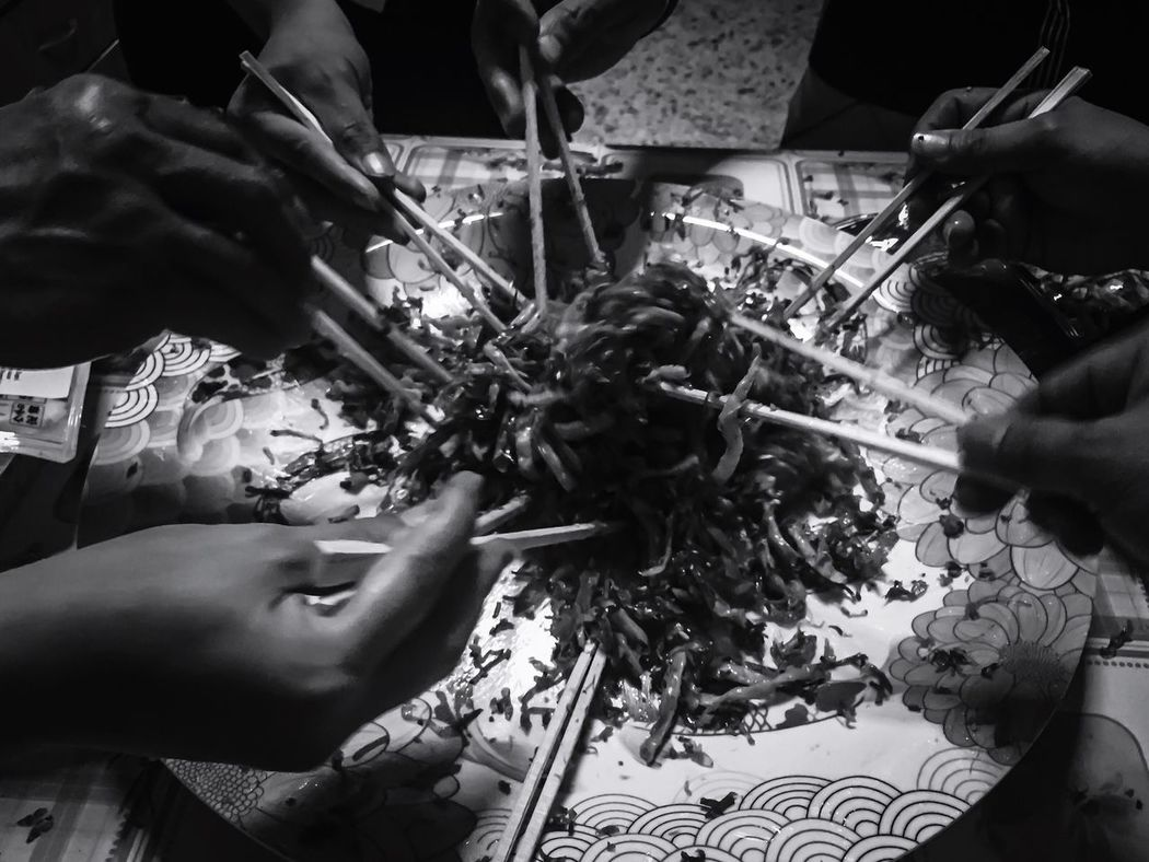 Cny CNY2017 Lunar New Year Lo Hei Food Human Hand Freshness Culture New Year Chinese New Year Chopsticks Fortune Real People Wish Togetherness Black And White Whole Hope Prosperity Gong Xi Fa Cai Lucky The Week On EyeEm