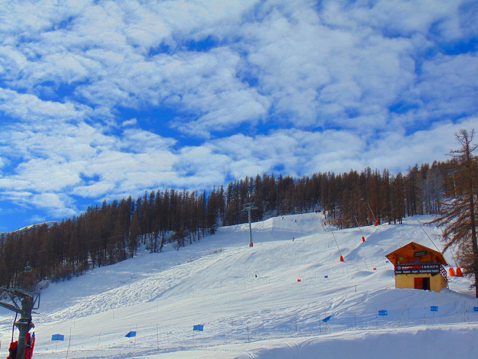 Serre Ratier (France) Alps Beauty In Nature Cloud - Sky Cold Temperature French Alps Landscape Landscape Photography Landscape_Collection Landscape_photography Mountain Nature Nature Photography Nature_collection Outdoors Serre Chevalier  Serre Ratier Skiing Sky Snow Snowboarding Snowboarding ❤ Travel Travel Photography Tree Winter