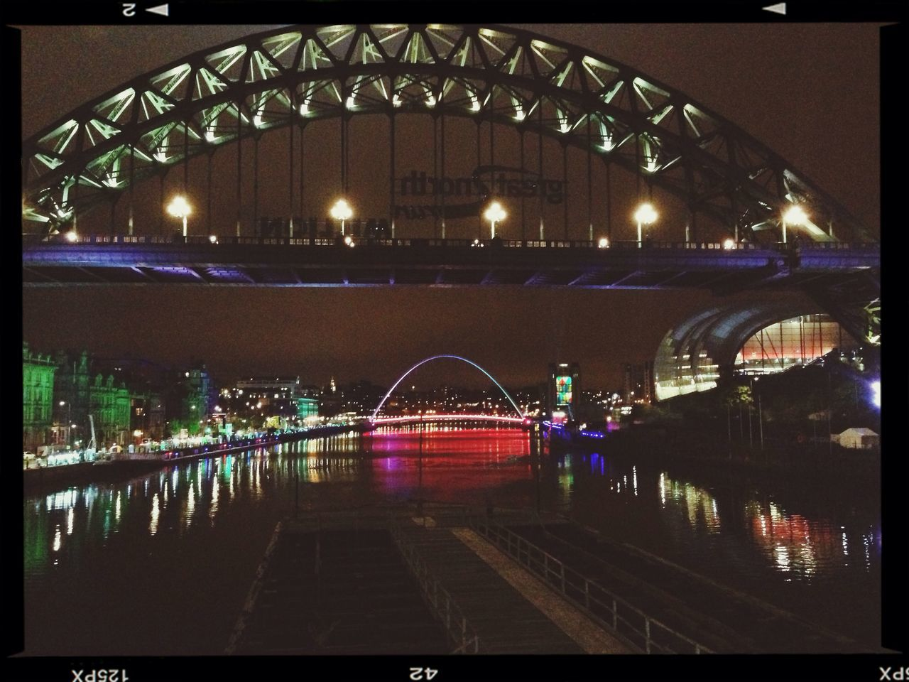 Tyne Bridge The Sage Newcastle Newcastle Quayside Cities At Night River Tyne The North East