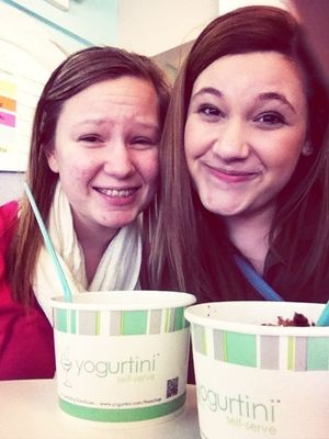 Binge eating at Yogurtini by Sophie