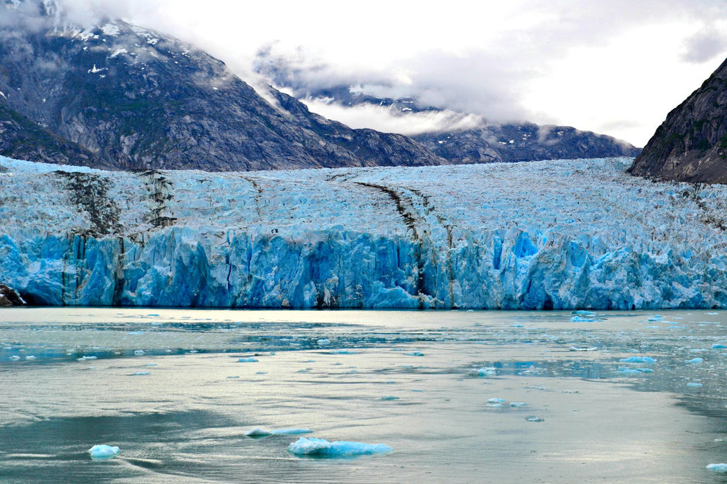 Alaska Beauty In Nature Blue Blue Wave Clouds Cold Cold Temperature Covering Frozen Glacier Ice Ice Bergs Landscape Landscape_Collection Landscape_photography Landscapes Low Clouds Mountain Range Nature Non-urban Scene Scenics Snow Snowcapped Mountain Tranquility Water