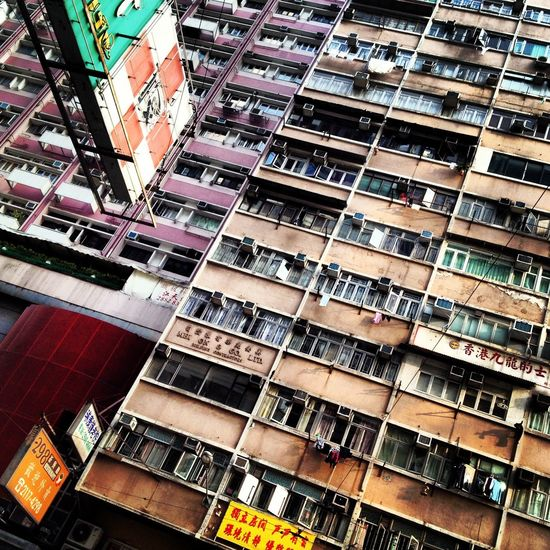 Air-condition Apartment Architecture Building Building Exterior Façade Hong Kong Low Angle View Residential Building Residential Structure