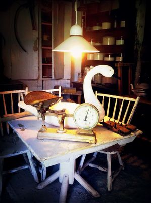 Checking in at Wood Bull Antiques by Karen Spychalski-Sullins