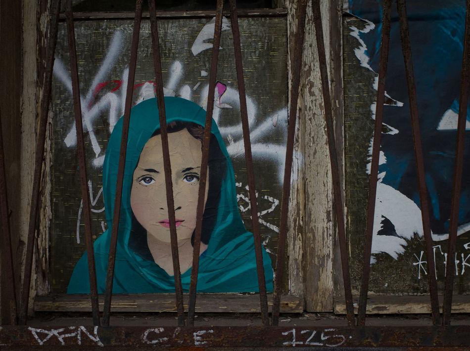 Close-up Cutouts Day Looking At Camera No People Outdoors Portrait Streetart Urban Art