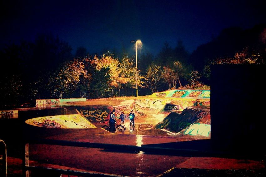 Cycling Dundee Dundee, Scotland Dundee, Uk Illuminated Outdoors Rain Rainy Rainy Evening Skate Park Skate Park, Dundee