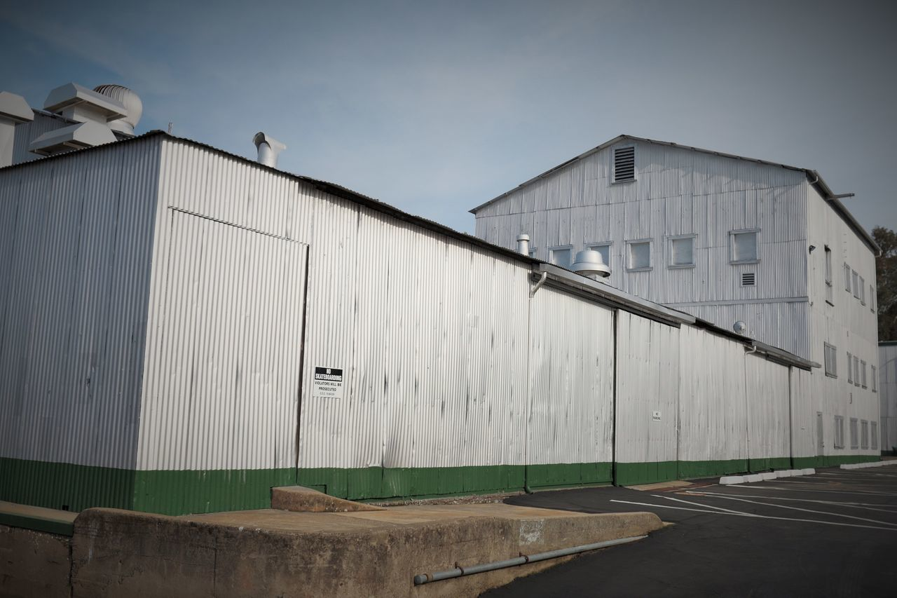 Corrugated metal building Cloud - Sky Corrugated Metal Day Industry Large No People Outdoors Sky Warehouse