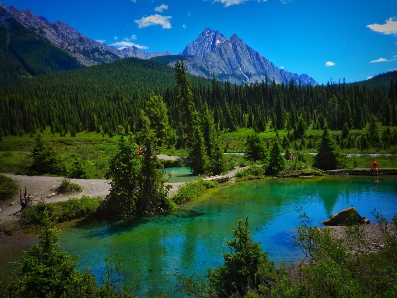 Alberta, Canada Beauty In Nature Blue Canada Day Forest Idyllic Lake Landscape Mountain Mountain Range Nature No People Outdoors Scenics Sky Tranquil Scene Tranquility Tree Water