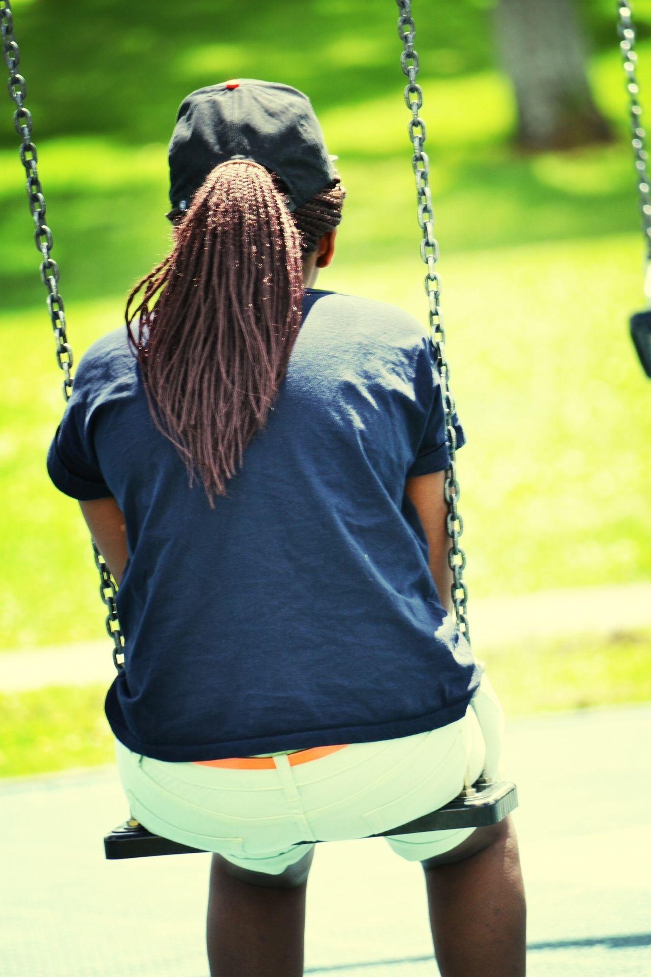 The Girl Park Swing