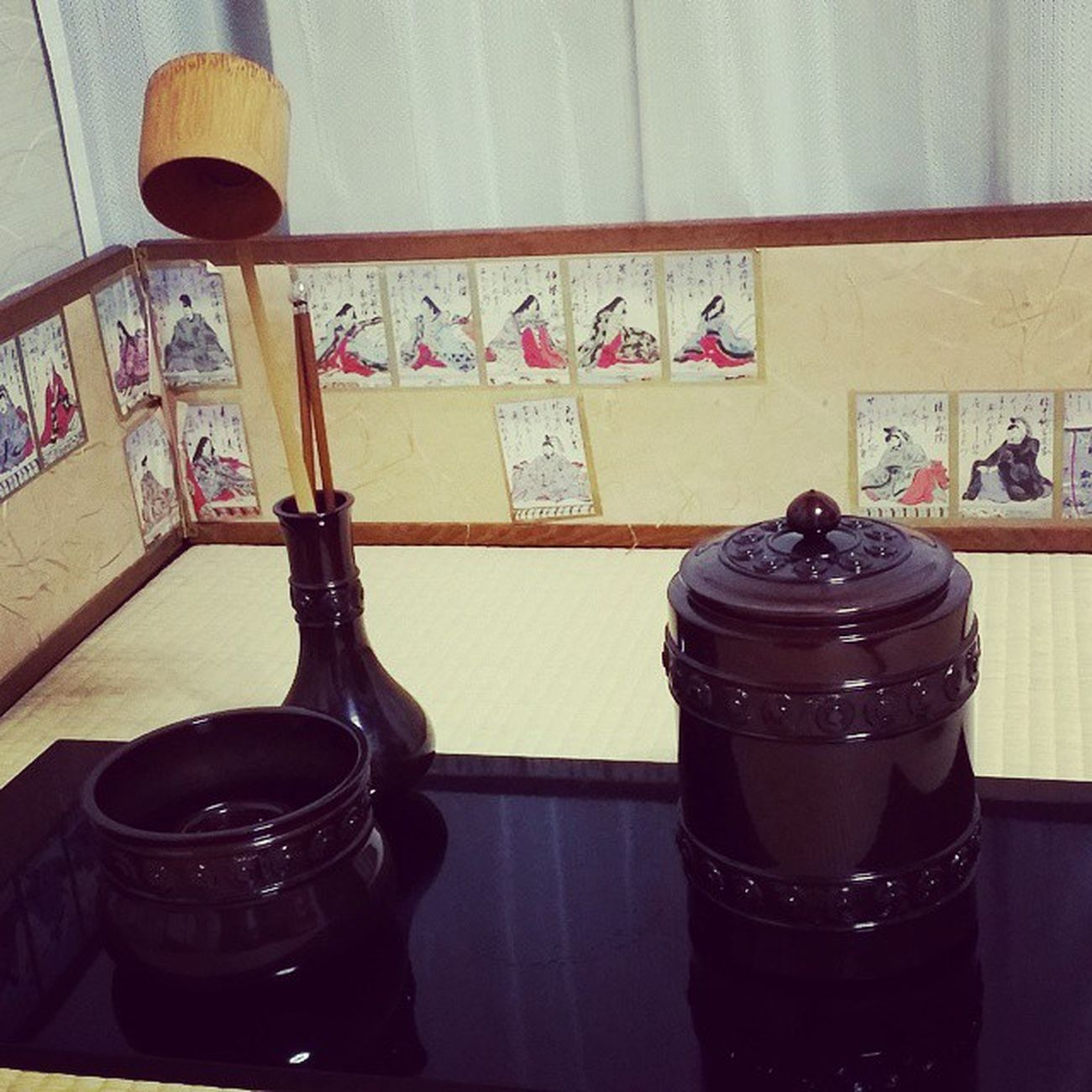長板皆具カイグ(水差 建水 蓋置 火箸建)お茶道具
