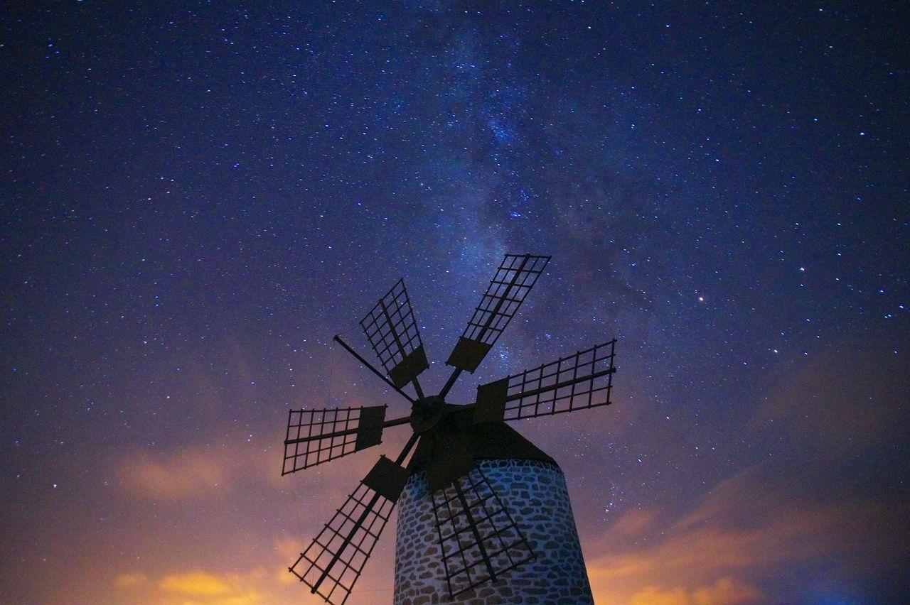 Beautiful stock photos of galaxy, star - space, night, sky, wind power