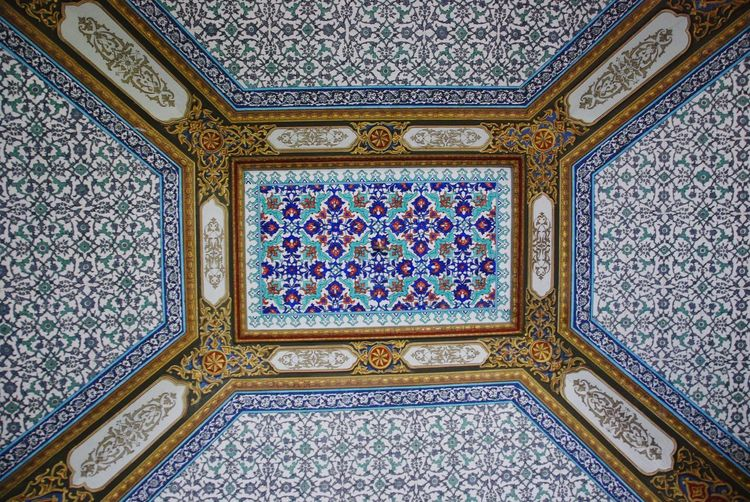 Pattern Ornate Mosaic Design Tile Architecture Full Frame Day Indoors  Close-up