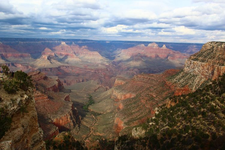 Tranquil Scene Beauty In Nature Scenics Tranquility Nature Geology Rock Formation Physical Geography Travel Non-urban Scene Travel Destinations Canyon Idyllic Day Sky Grand Canyon National Park Grand Canyon National Park South Rim Scenery Landscape