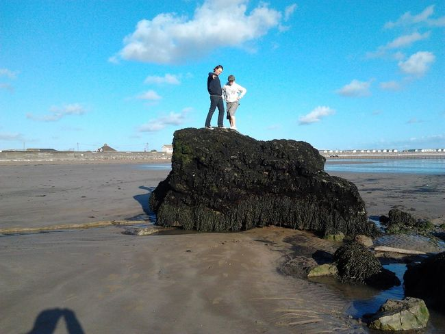 My lads rock jumping when tide was out Burnham On Sea Brean Down
