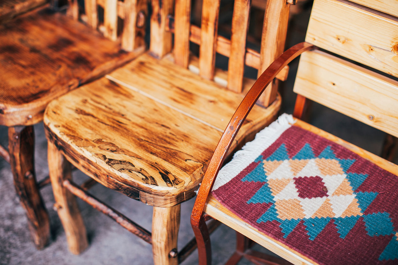 Chair Ethnic Wood - Material Wooden