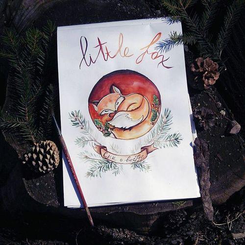 Сны маленькой лисички... Watercolour Watercolor Painting Drowing Painting Art Sketch Art Paint Littlefox акварель скетч Рисование маленькая лисичка принт иллюстрация арт  акварельныйрисунок акварель скетч.