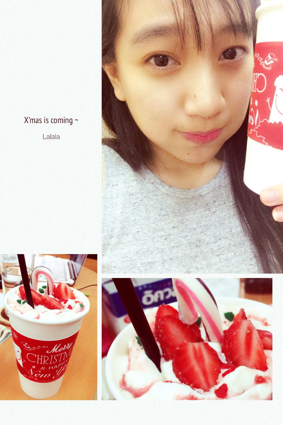 My design cup <3 Mocha Tea Is Healthy Drinking A Latte Coffee Xmas Paper Cup Wall Street  Nguyen Hue St