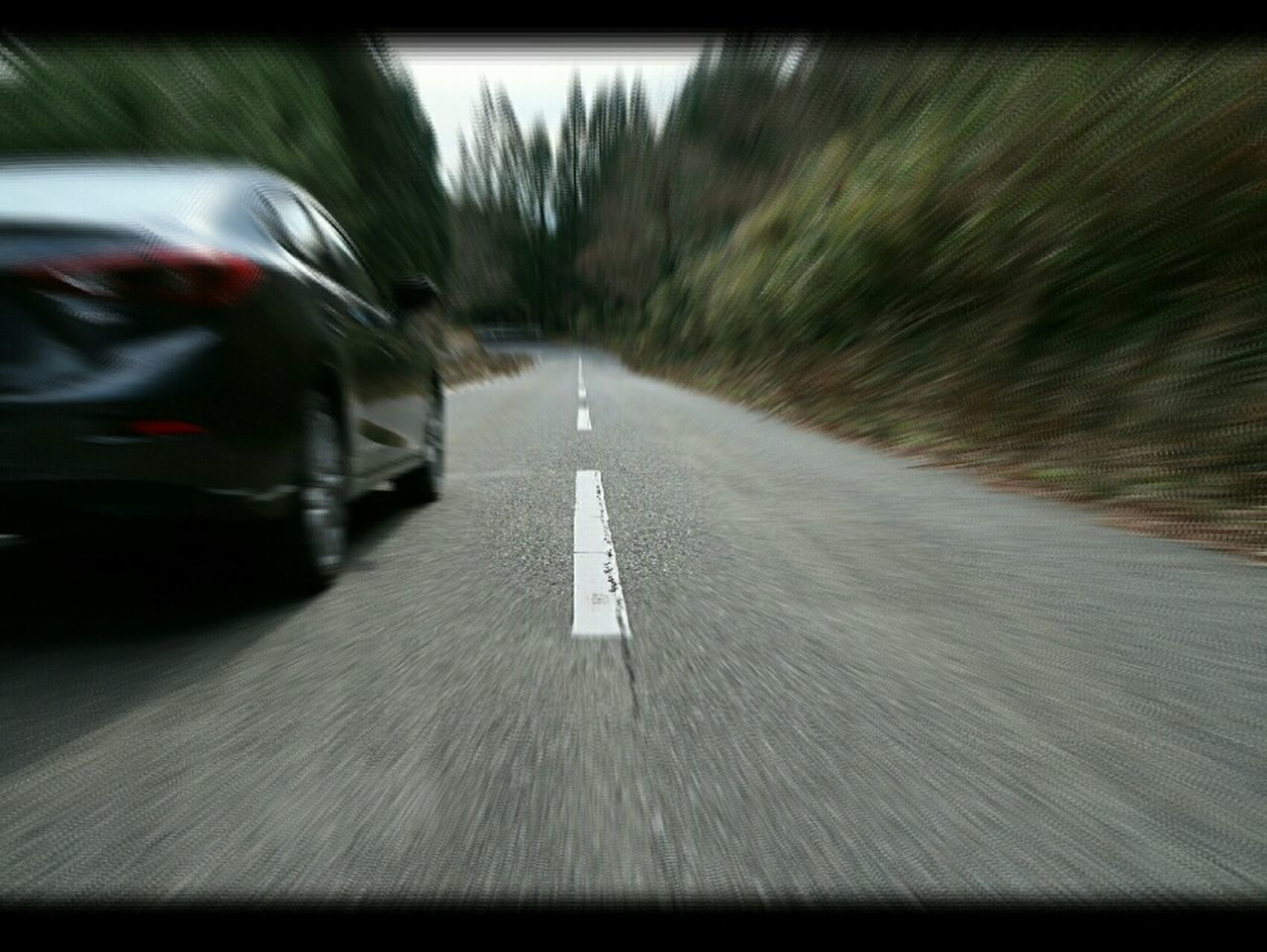 Motion Blurred Motion Car Road Speed On The Move Transportation The Way Forward No People Driving Outdoors Nature Mazda MaZda3 マツダ アクセラ Winding Road