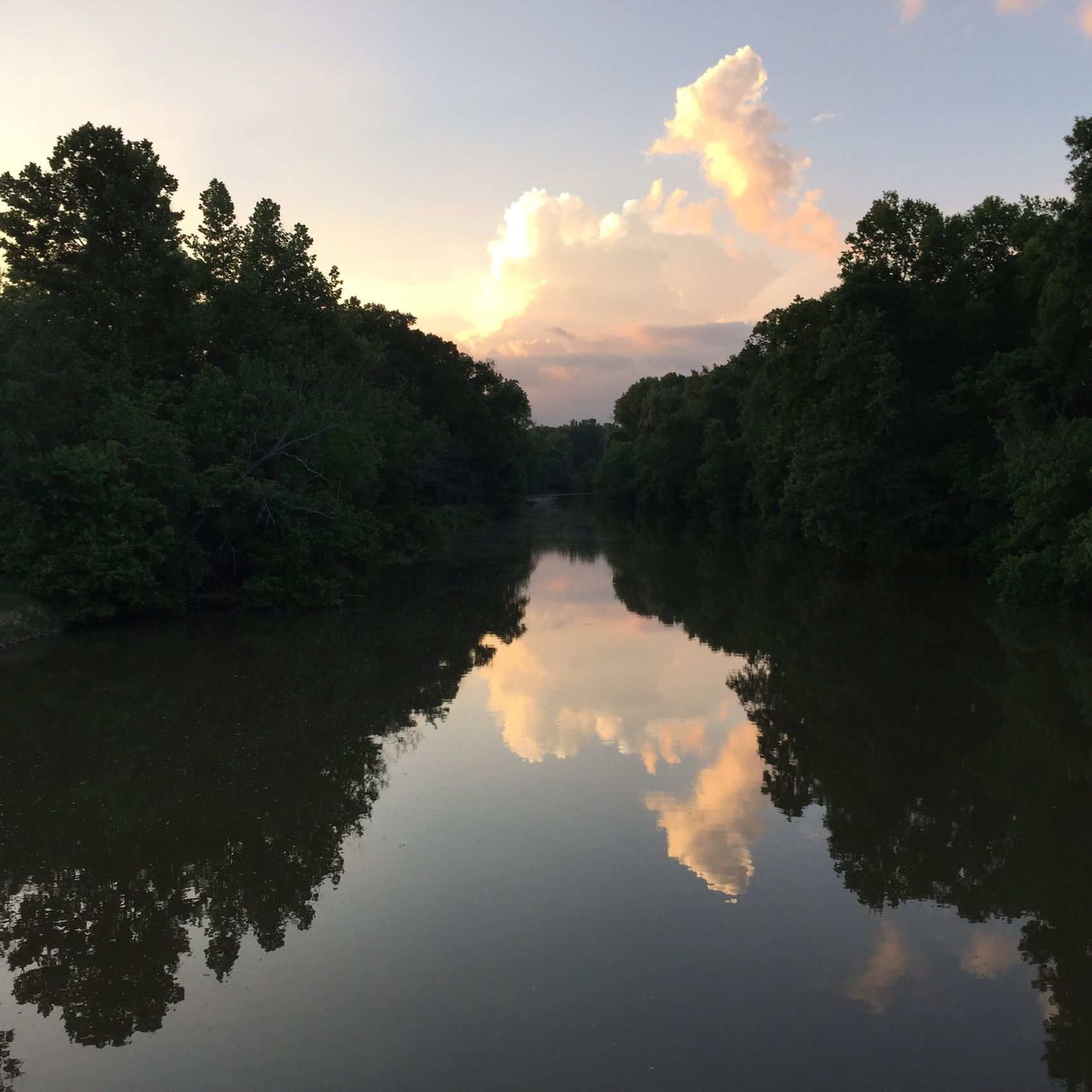 Reflection off clouds. River Clouds And Sky Water Water Reflections