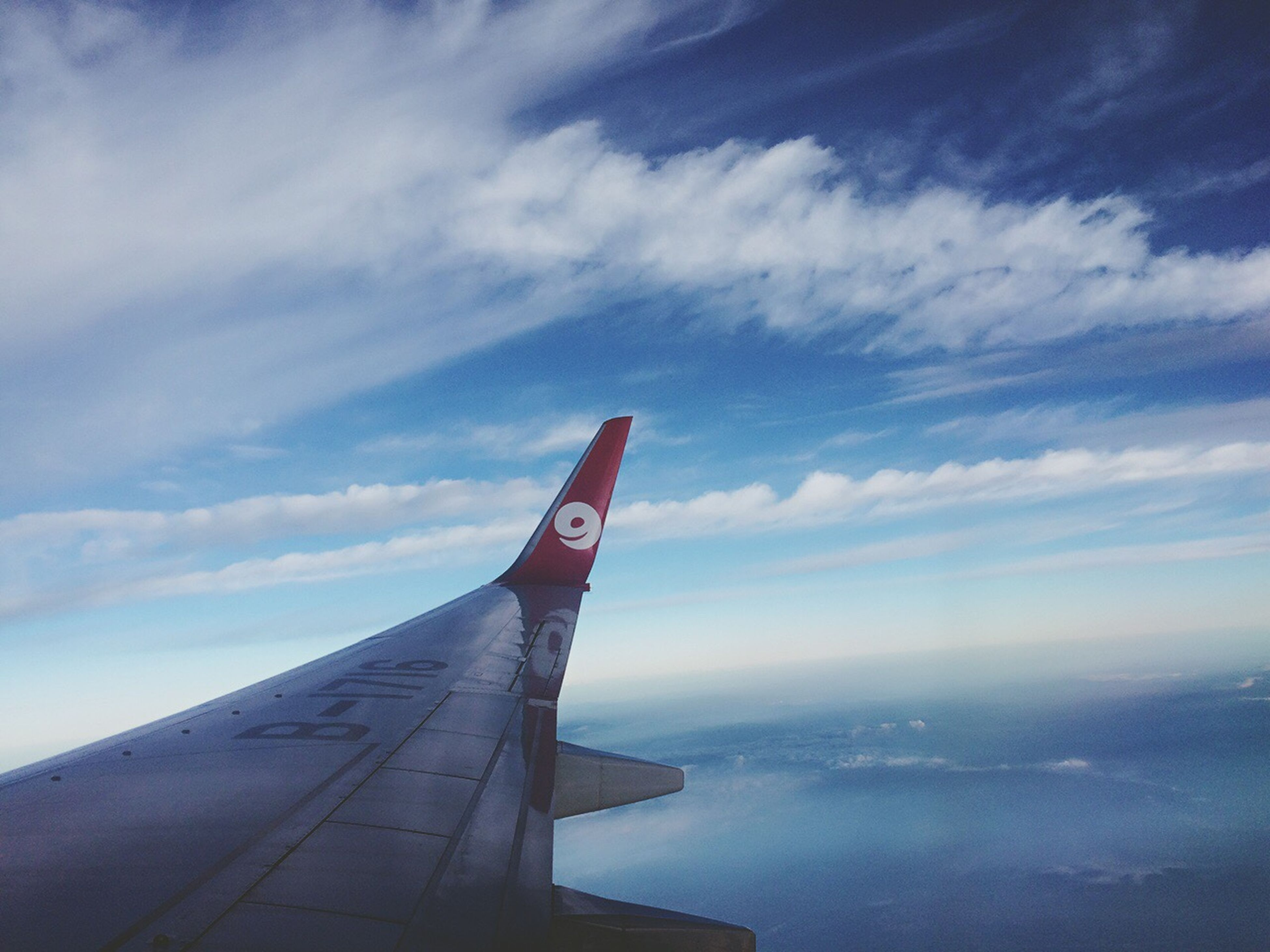 sky, cloud - sky, no people, sea, outdoors, day, water, airplane, beauty in nature, nature