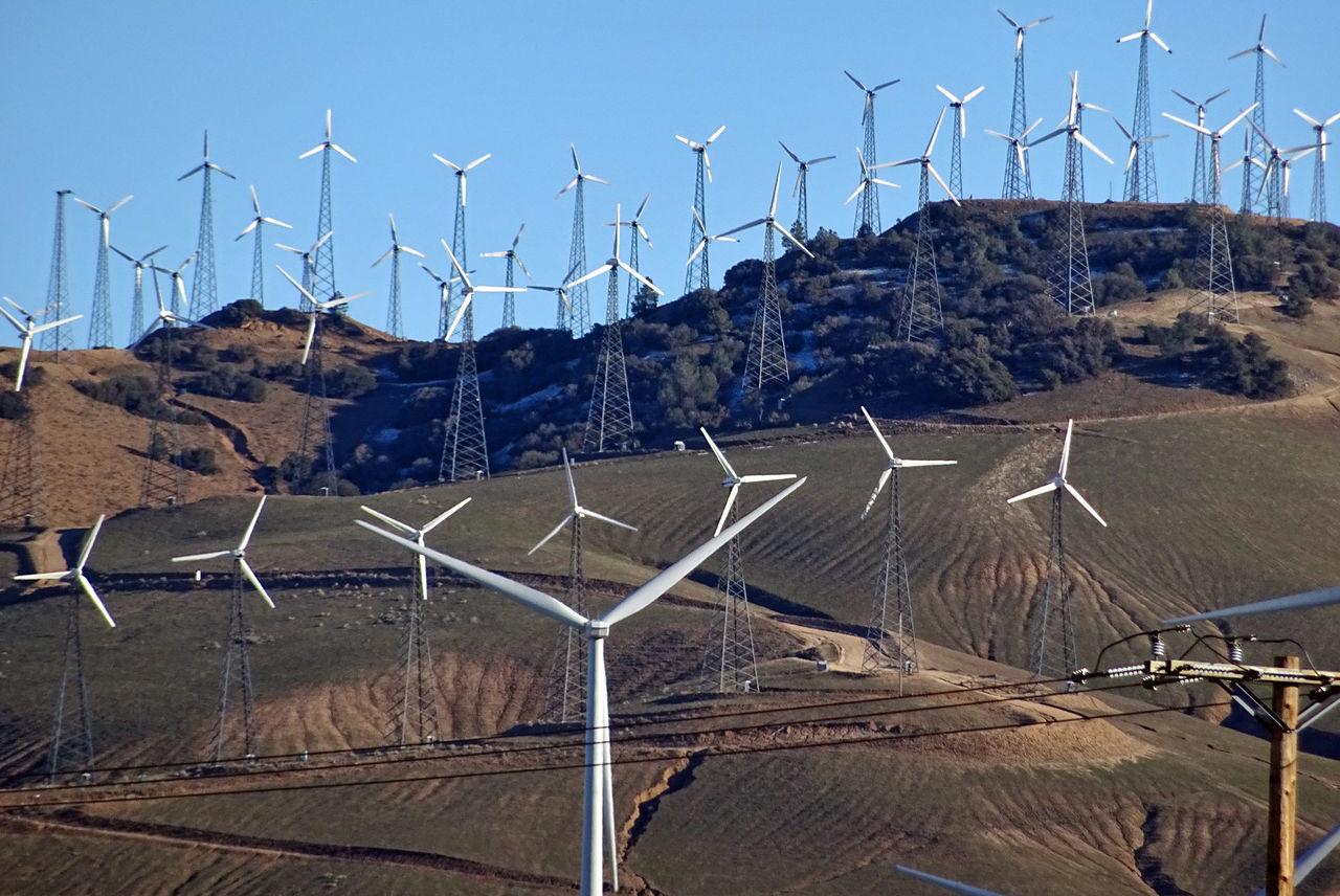 California Day Energie Energy Kalifornien No People Outdoors USA USA Photos Wind Turbines Wind Turbines Field Beautifully Organized